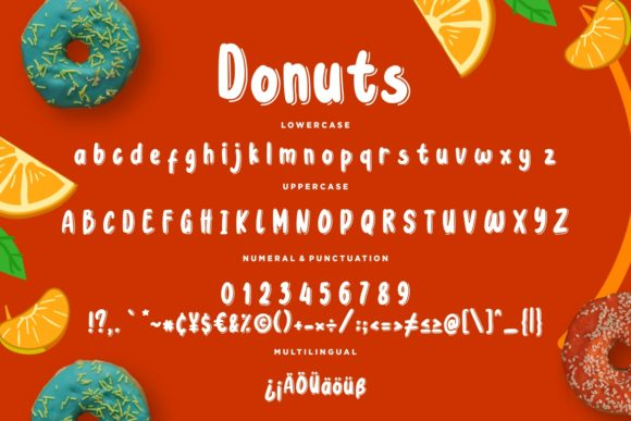 Print on Demand: Donuts Display Font By CreatypeStudio - Image 7