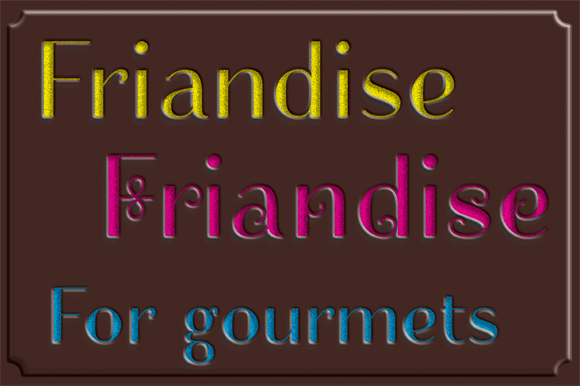 Print on Demand: Friandise Decorative Font By JBFoundry