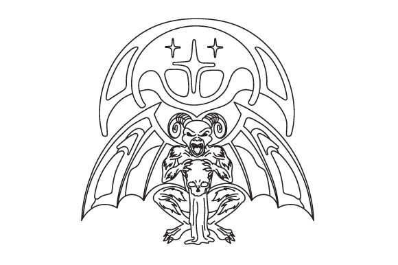 Download Free Gargoyle In Line Art Style Svg Cut File By Creative Fabrica for Cricut Explore, Silhouette and other cutting machines.
