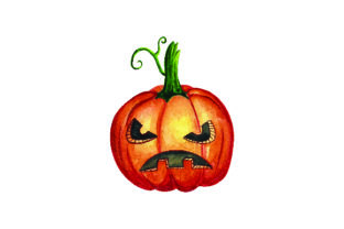 Jack-o'-lantern Watercolor Halloween Craft Cut File By Creative Fabrica Crafts