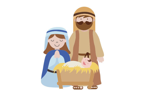 Josef, Maria and Jesus Christmas Craft Cut File By Creative Fabrica Crafts