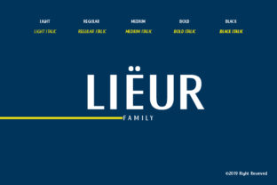 Print on Demand: Lieur Display Font By inkstypia
