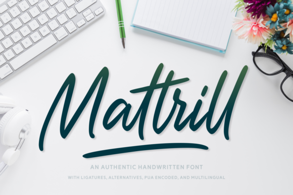 Print on Demand: Mattrill Script & Handwritten Font By Situjuh - Image 1