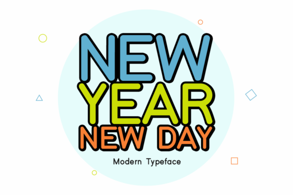 Print on Demand: New Year New Day Display Font By Instagram Fonts