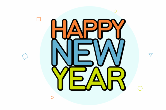 Print on Demand: New Year New Day Display Font By Instagram Fonts - Image 2
