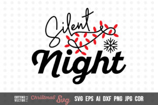 Download Free Silent Night Graphic By Danieladoychinovashop Creative Fabrica for Cricut Explore, Silhouette and other cutting machines.