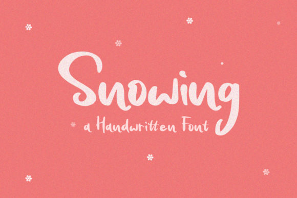 Print on Demand: Snowing Manuscrita Fuente Por Yumna_Type