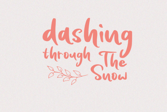 Print on Demand: Snowing Script & Handwritten Font By Yumna_Type - Image 4