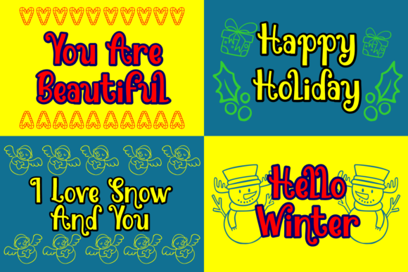 Print on Demand: Snowman Jack Display Font By Dreamink (7ntypes) - Image 2