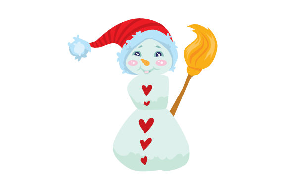 Download Free Snowman Wearing Santa Hat Svg Cut File By Creative Fabrica for Cricut Explore, Silhouette and other cutting machines.