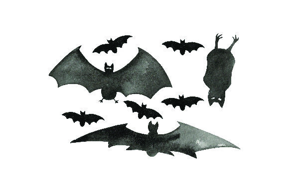 Spooky Bats Watercolor Halloween Craft Cut File By Creative Fabrica Crafts