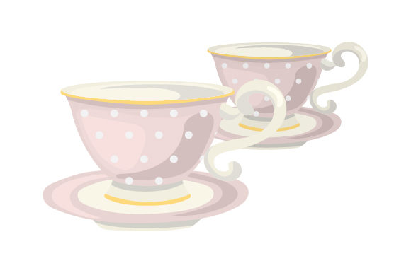 Download Free Vintage Tea Cups Svg Cut File By Creative Fabrica Crafts for Cricut Explore, Silhouette and other cutting machines.