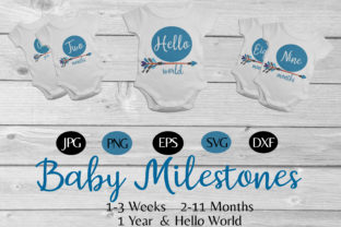 Babys' Bundle of 1 Year Milestones Graphic By capeairforce