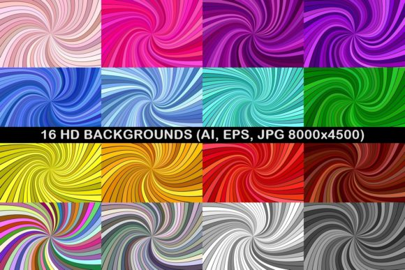 16 HD Spiral Backgrounds Graphic By davidzydd Image 1