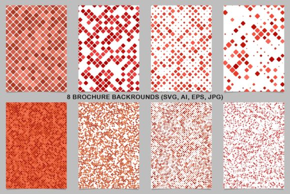 8 Red and Orange Brochure Backgrounds Graphic Print Templates By davidzydd