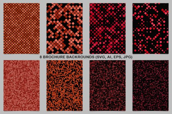 8 Dark Red Brochure Backgrounds Graphic Print Templates By davidzydd