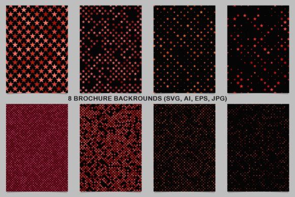 8 Red Gradient Brochure Backgrounds Graphic Print Templates By davidzydd