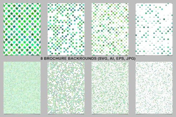 8 Green Brochure Backrounds Graphic Print Templates By davidzydd