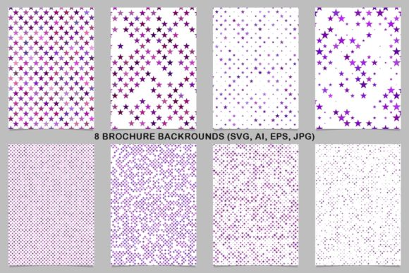 8 Purple Brochure Backrounds Graphic Print Templates By davidzydd
