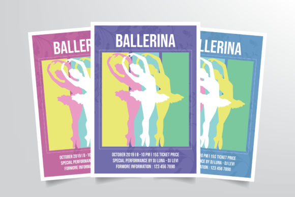 Ballerina Ballet Dance Flyer Template Graphic Print Templates By StringLabs