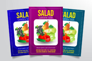 Salad Flyer Template Graphic By StringLabs