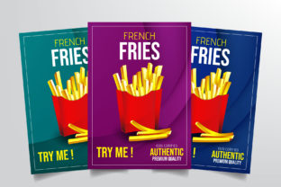 French Fries Flyer Template Graphic By StringLabs