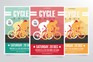 Road Bicycle Racing Flyer Template Graphic By StringLabs