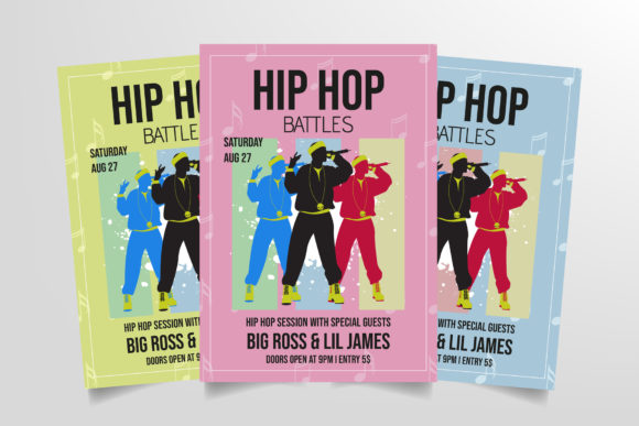 Hip Hop Battles Flyer Template Graphic Print Templates By StringLabs