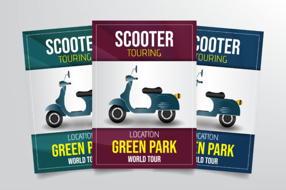 Scooter Touring Flyer Template Graphic Print Templates By StringLabs