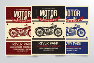 Motorcycle Club Flyer Template Graphic By StringLabs