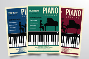 Piano Course Flyer Template Graphic By StringLabs