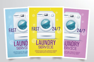 Laundry Flyer Template Graphic By StringLabs