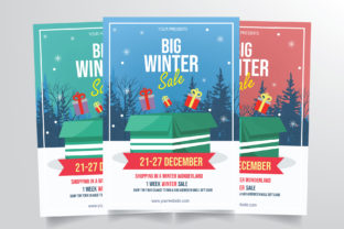 Winter Sale Flyer Template Graphic By StringLabs