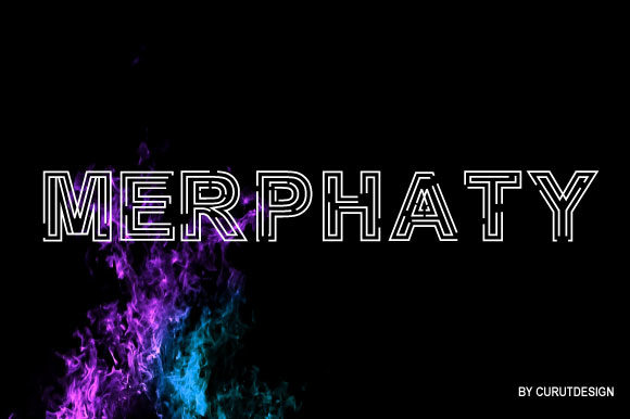 Print on Demand: Merphaty Display Font By curutdesign