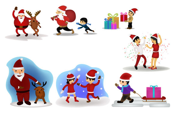 Print on Demand: Merry Christmas Happy Companion Design Graphic Illustrations By iop_micro