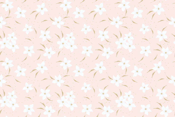 Download Free Sweet Pink Flower Seamless Pattern Graphic By Thanaporn Pinp for Cricut Explore, Silhouette and other cutting machines.
