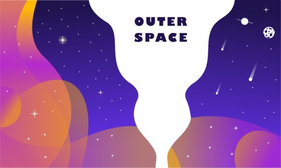 Outer Space, Abstract Shape and Planets Graphic Logos By DEEMKA STUDIO