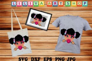 Afro Baby Girl Svg Girl With Pacifier Graphic By Liliyaartshop