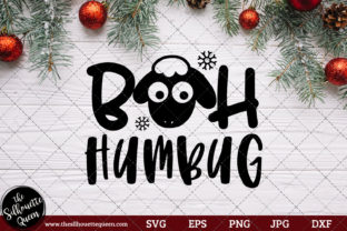 Download Free Bah Humbug Saying Graphic By Thesilhouettequeenshop Creative for Cricut Explore, Silhouette and other cutting machines.