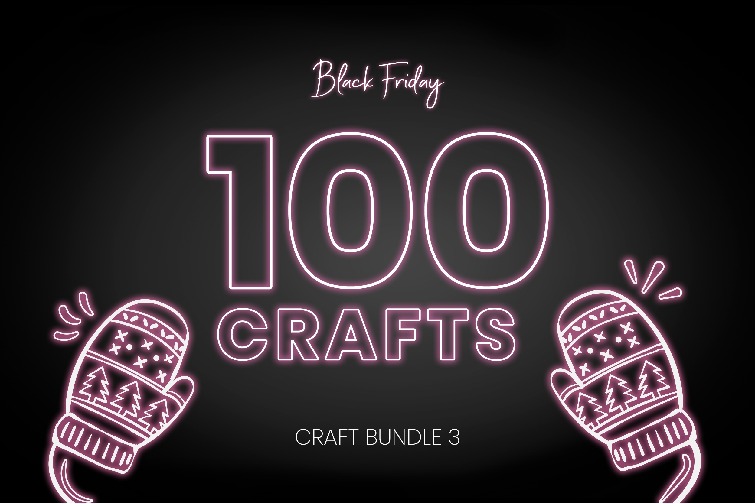 Download Free Black Friday Craft Bundle 3 Bundle Creative Fabrica for Cricut Explore, Silhouette and other cutting machines.