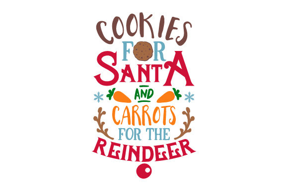 Cookies for Santa & Carrots for the Reindeer Weihnachten Plotterdatei von Creative Fabrica Crafts