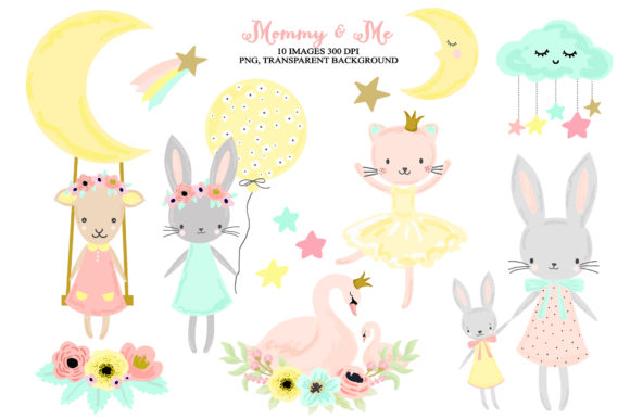 Download Free Cute Nursery Woodland Baby Girl Animals Graphic By Kabankova for Cricut Explore, Silhouette and other cutting machines.