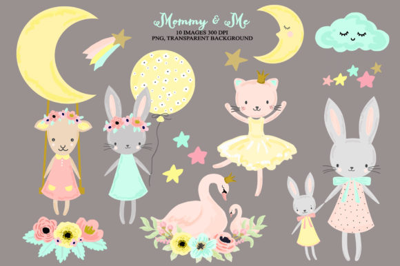 Download Free Cute Nursery Woodland Baby Girl Animals Graphic By Kabankova Creative Fabrica for Cricut Explore, Silhouette and other cutting machines.