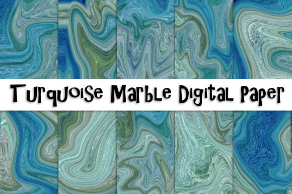 Download Free Turquoise Marble Digital Paper Graphic By Tamara Widitz for Cricut Explore, Silhouette and other cutting machines.