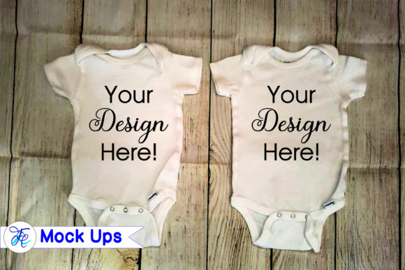 Baby Onesie Mock Ups Graphic Download