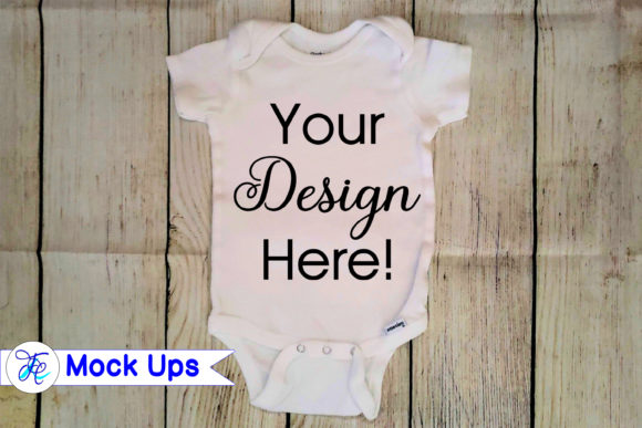 Baby Onesie Mock Ups Graphic