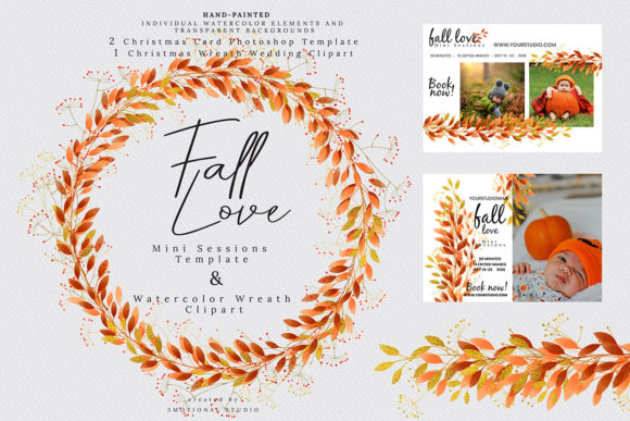 Fall Love Mini Sessions Template Graphic By 3Motional