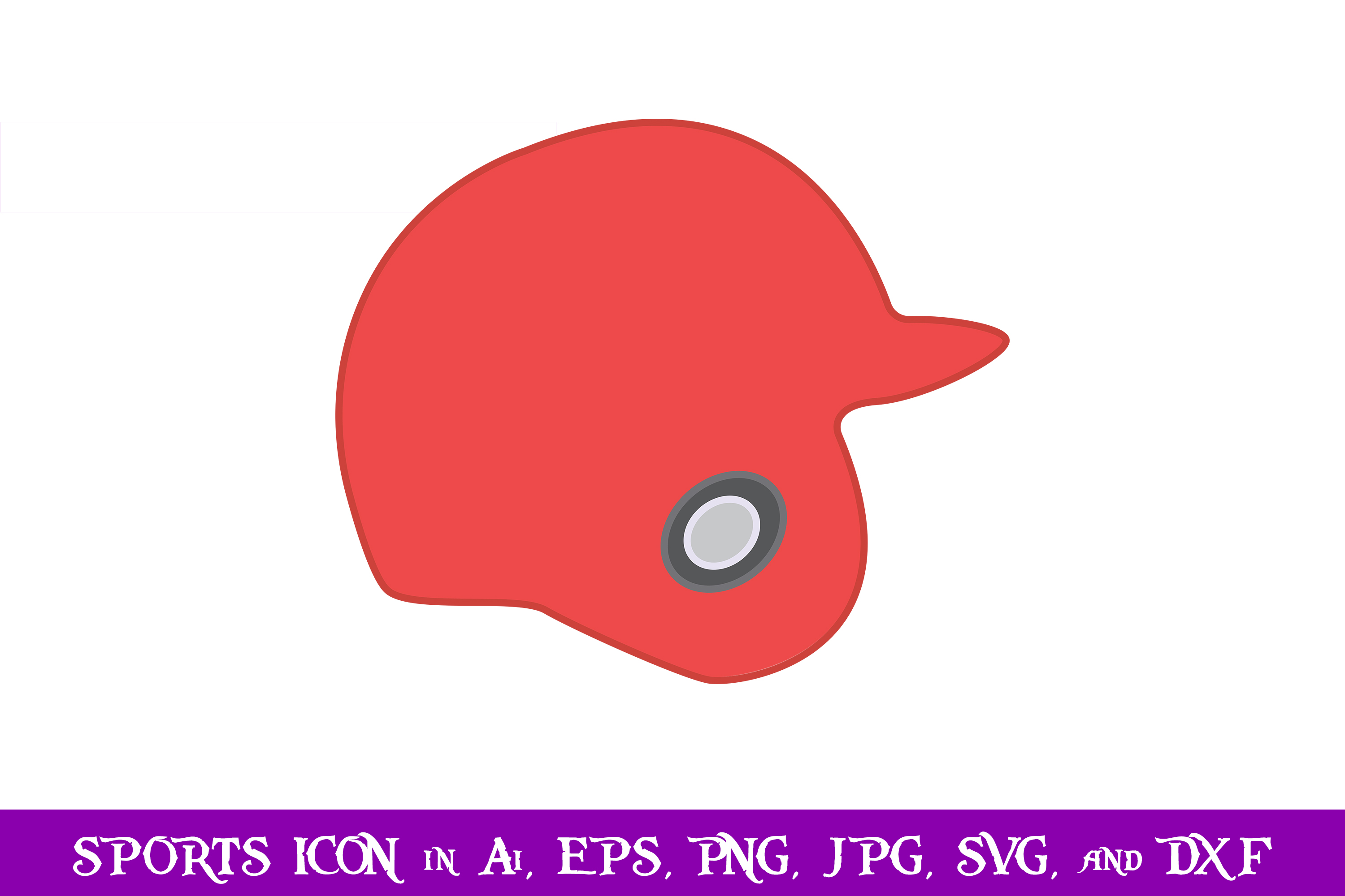 Download Free Baseball Helm Sport Icon Graphic By Purplespoonpirates for Cricut Explore, Silhouette and other cutting machines.