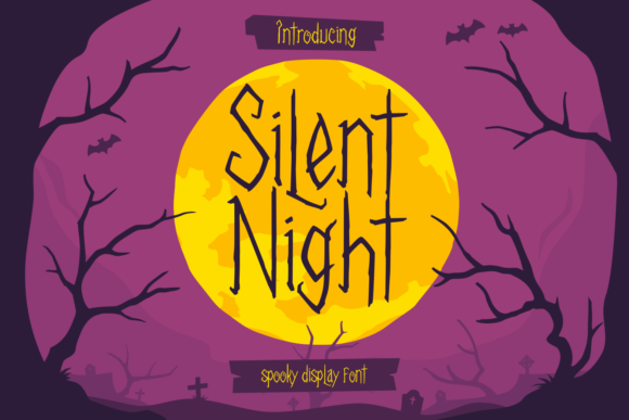 Print on Demand: Silent Night Display Font By tkztype