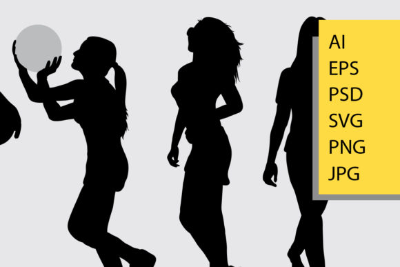 Peope Activity Silhouette Graphic Illustrations By Cove703 - Image 2